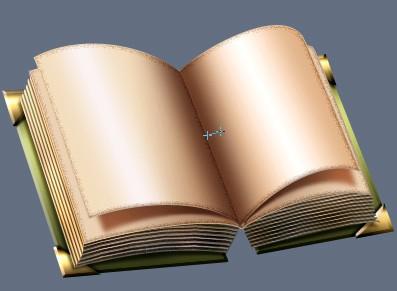 Создание открытой книги в Фотошоп