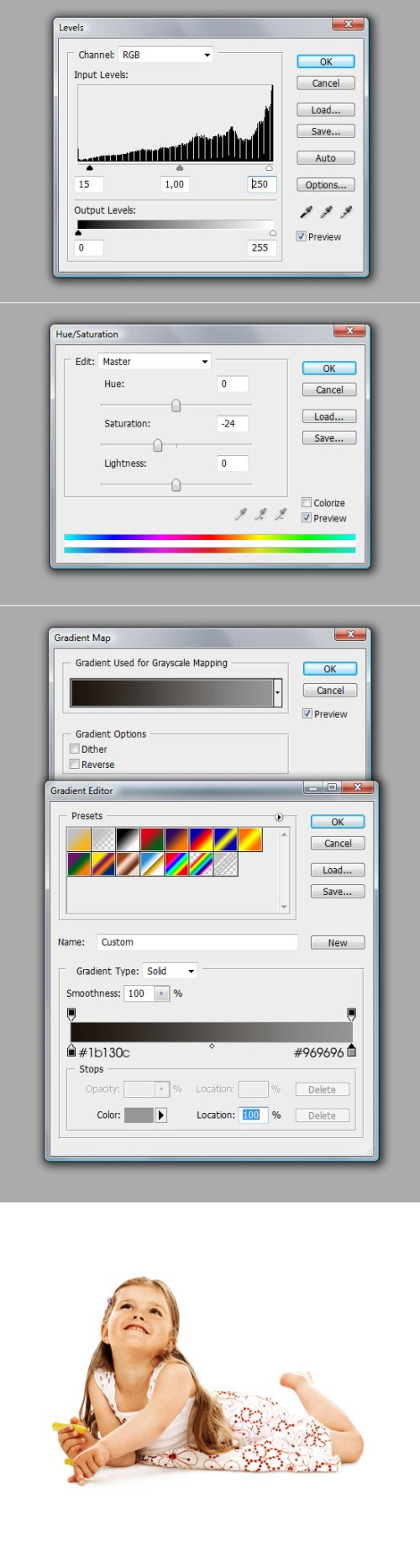 Создание яркого изображения с цветными линиями
