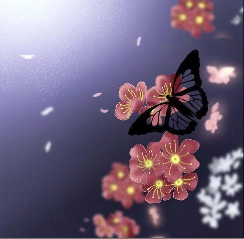 Бабочка в весеннем образе
