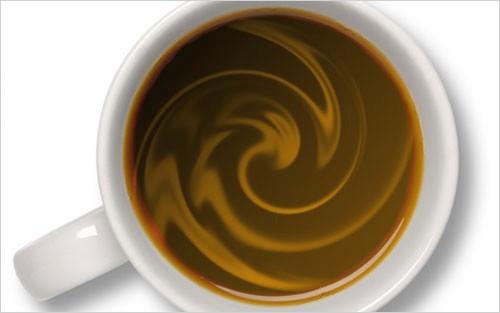 Создание чашки кофе со сливками в Photoshop