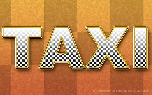 Текстовый эффект «Такси»