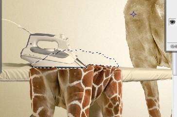 Раздеваем жирафа в программе Photoshop
