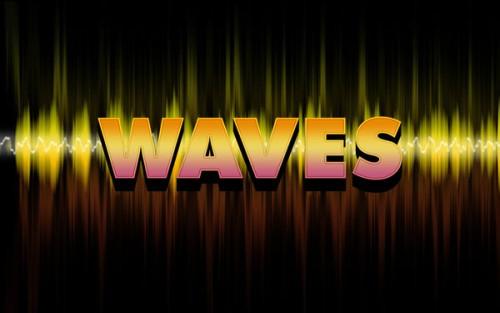 Текстовый эффект «Waves»