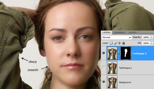 Способы ретуширования кожи