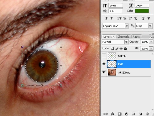 Создаем глаза Халка