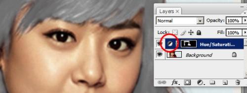 Изменяем цвет волос в Фотошоп