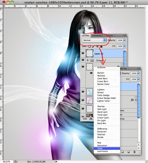 Создаём светящуюся иллюстрацию в Фотошоп