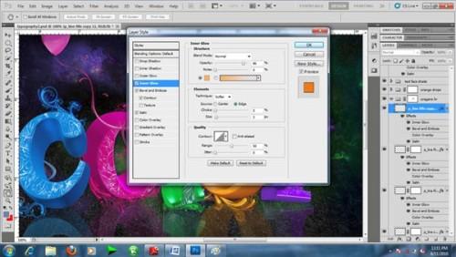 Создание красочного текстового 3d эффекта в Фотошоп