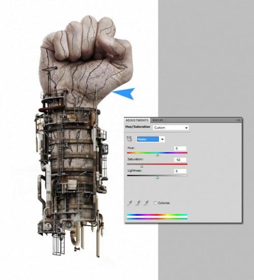 Создаем руку киборга в Фотошоп