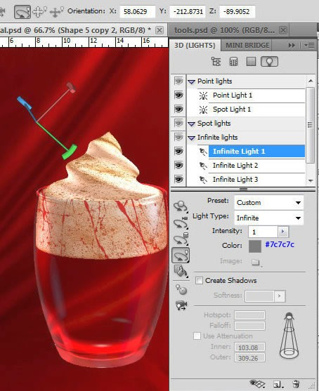 Праздничный коктейль в Фотошоп CS5