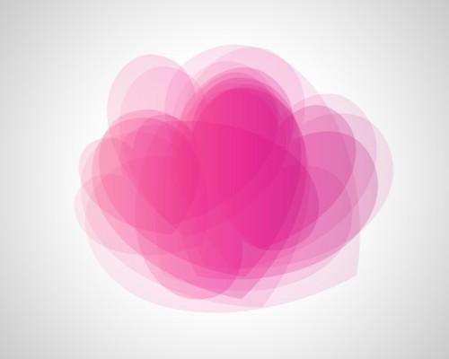 Романтическая открытка ко дню святого Валентина