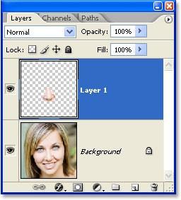 Коррекция носа в Фотошоп