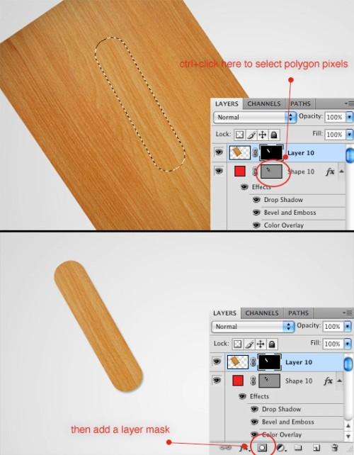 Декоративный текст из деревянных палочек
