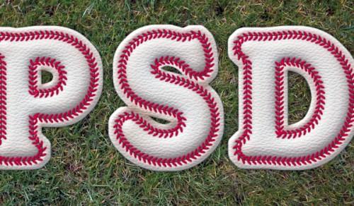 Бейсбольный текстовый эффект