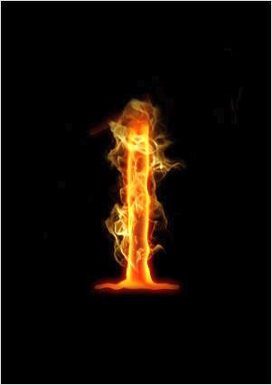 Огненный текст