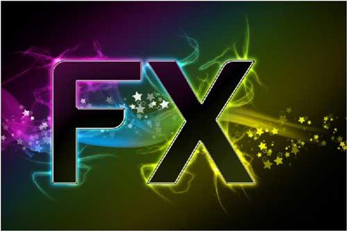 Абстрактный текстовый эффект «FX»