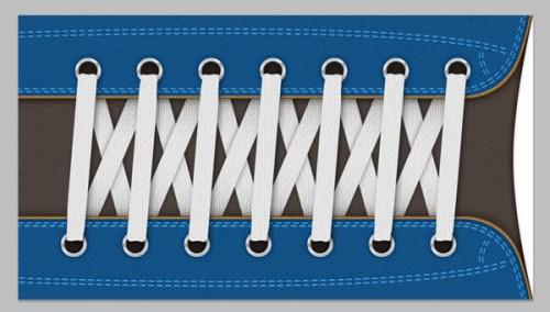 Реалистичные шнурки в Фотошоп