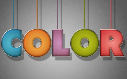 Разноцветные буквы в металлической окантовке