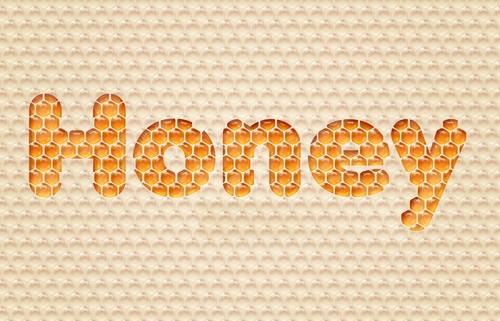 Текст на медовом соте
