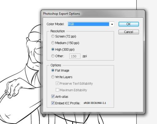 Экспорт файла из Illustrator
