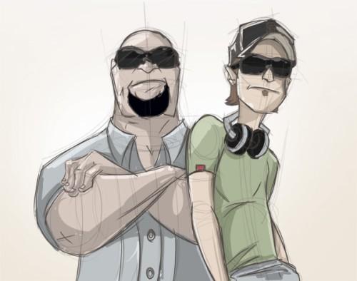 Рисуем персонажей «Святые из Бундока»