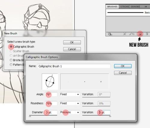 Очистка эскиза в Adobe Illustrator