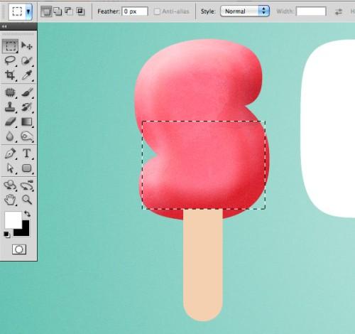 Текст в виде мороженого