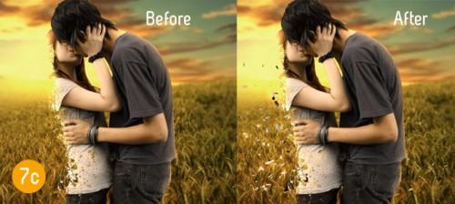 Фотоманипуляция «Последний поцелуй»