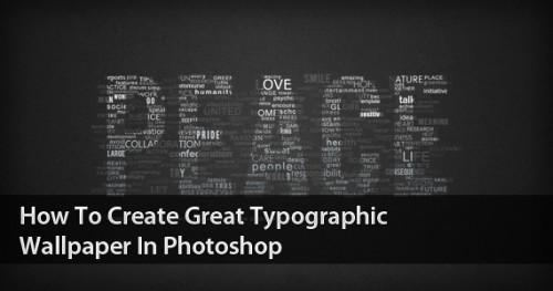 Типографские обои в Photoshop