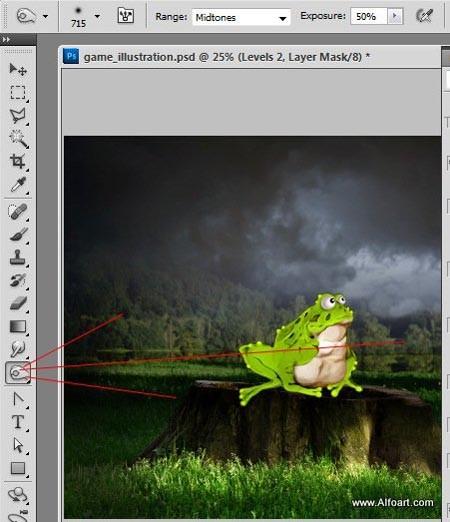 Мультипликационная иллюстрация в Фотошоп