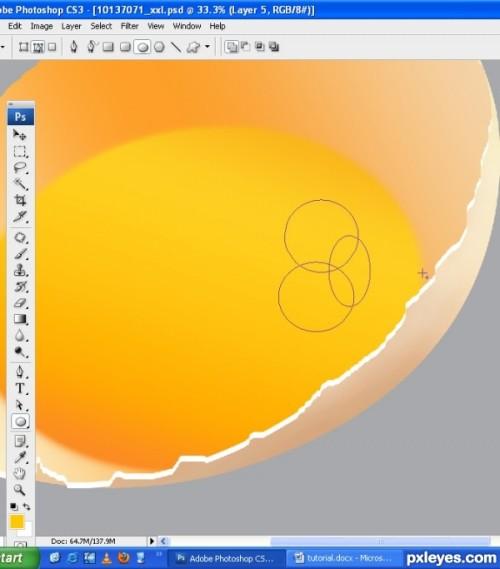 Рисуем разбитое яйцо