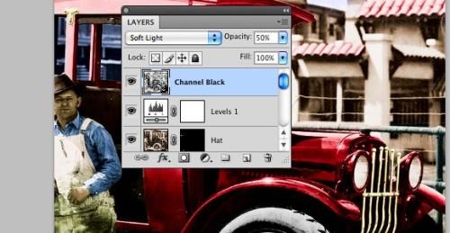 Раскрашиваем чёрно-белую фотографию