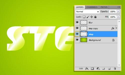 Необычный текстовый 3D эффект