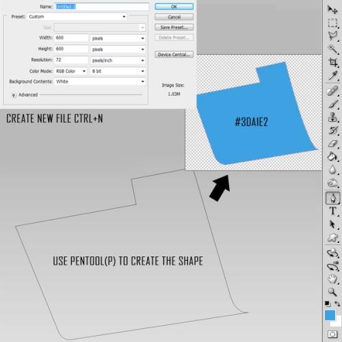 Иконка папки Download в Фотошоп