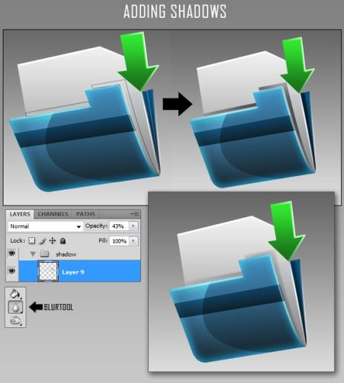 Как сделать значок для папки в фотошопе