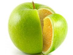 Чудо фрукт яблоко-апельсин
