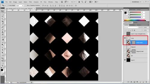 Эффект переплетения на фото