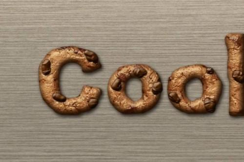 Текст из печенья в Фотошоп