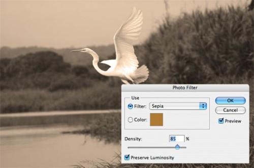 Эффект сепии в Фотошоп