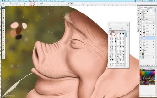 Иллюстрация «Отдых» в Photoshop