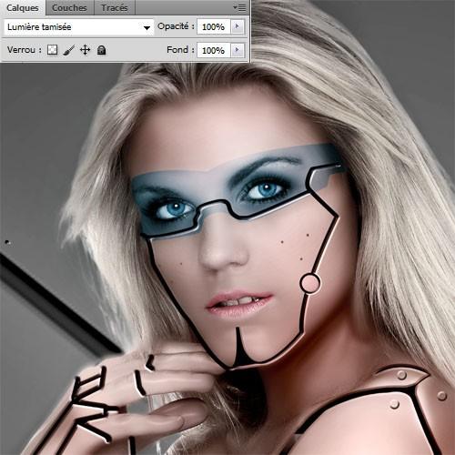 Девушка-киборг в Фотошоп