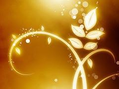Светящийся цветочный узор