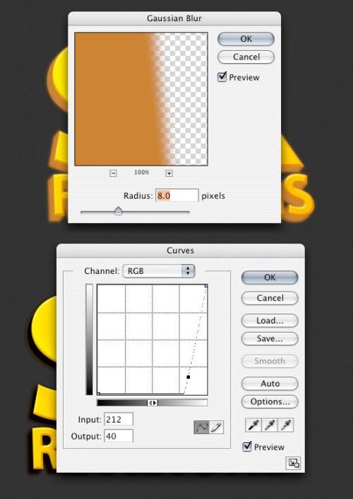 Простой 3D текст в Фотошоп