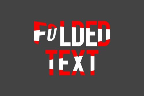 Эффект сложенного текста