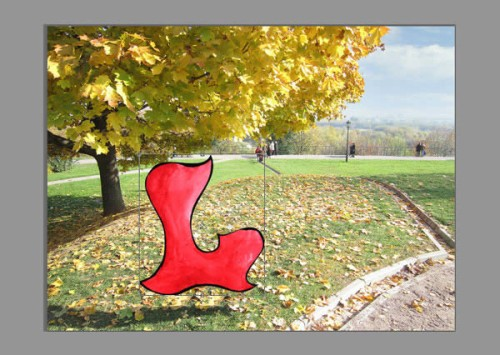 Осенний 3D текст