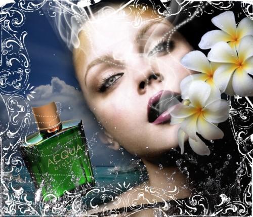 Рекламный постер французского парфюма