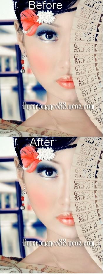 Гламурная ретушь с макияжем