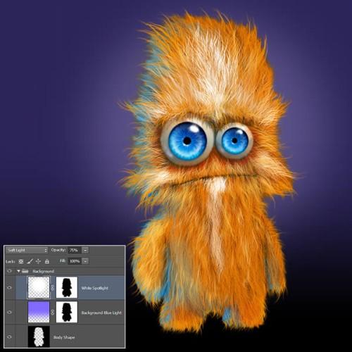 Пушистый персонаж из мультфильма