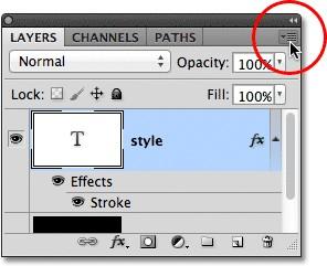 Контурный эффект для текста