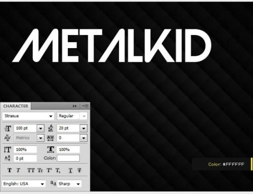 Металлический эффект для текста